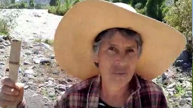La agricultora Nely Paredes fue una de las afectadas tras el desborde del río Chili.