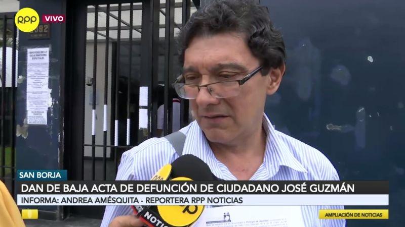 José Guzmán se mostró agradecido por la intervención de RPP Noticias en este caso.