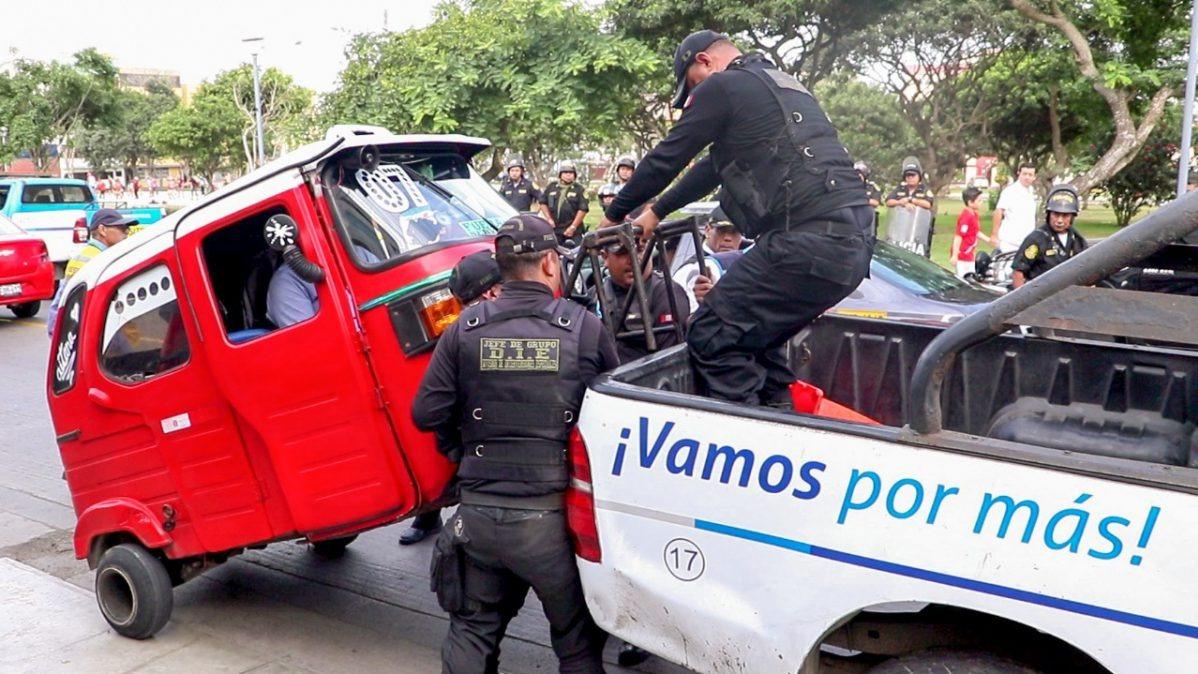 Todas las motos intervenidas fueron trasladadas al depósito municipal.