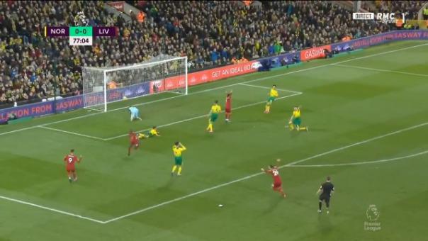 Así fue el gol de Sadio Mané frente al Norwich City.