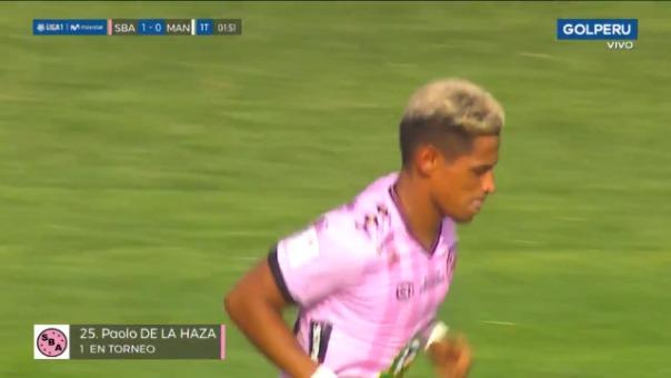 Así fue el gol de Paolo de la Haza.
