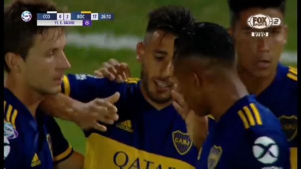 Así fue el gol de Eduardo Salvio.