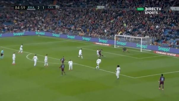 Así fue el gol de Santi Mina frente al Real Madrid.