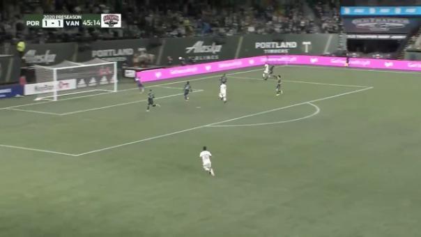 Así fue el gol de Andy Polo contra los Vancouver Whitecaps.