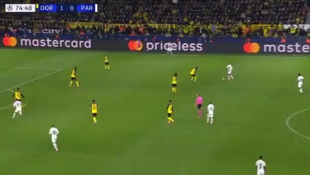 Así fue el tanto de Neymar ante el Borussia Dortmund.