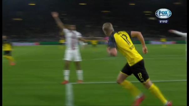 Erling Haaland marcó el primer gol de Borussia Dortmund ante PSG.