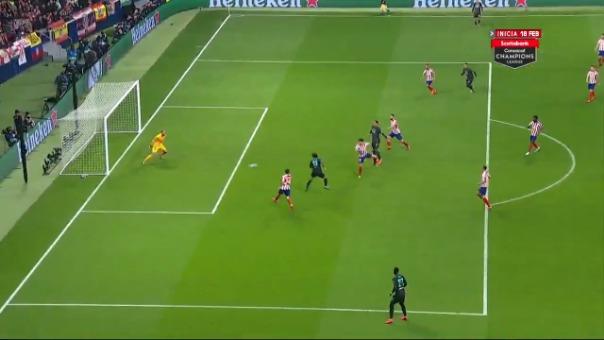 Así fue la ocasión de gol errada por Mohamed Salah.