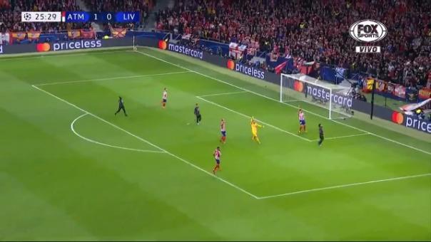 Así fue el gol anulado por Mohamed Salah contra el Atlético de Madrid.