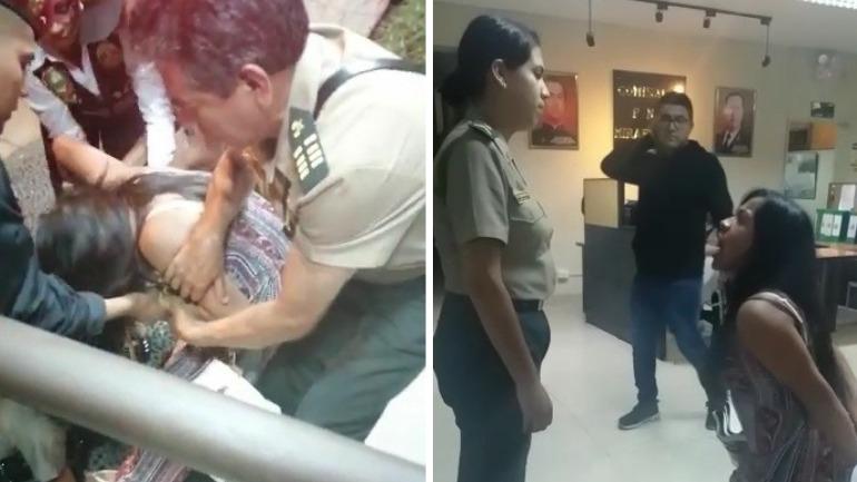 La mujer agredió a una suboficial de la Policía.