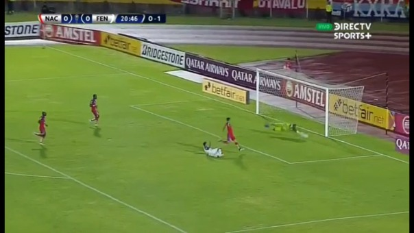 Fénix abrió el marcador ante los ecuatorianos en el partido de vuelta y con este resultado pasaría a la siguiente fase de la Copa Libertadores.