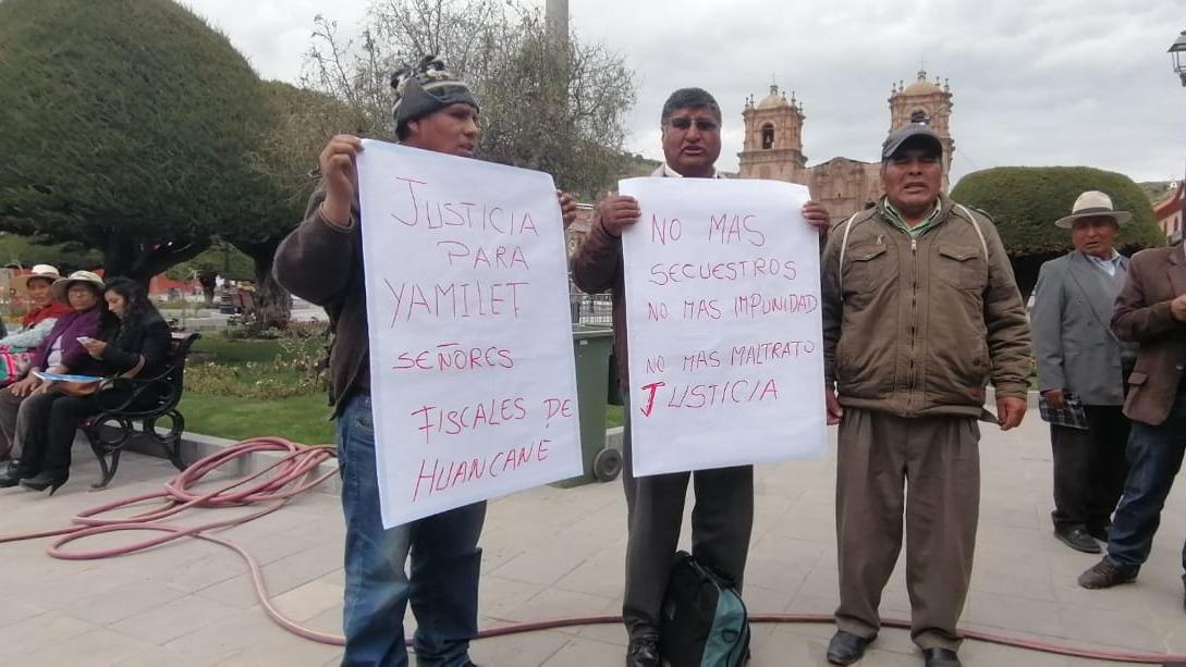 El papá de Yanelith, Rufino Coaquira, llegó a Puno para pedir jusiticia.