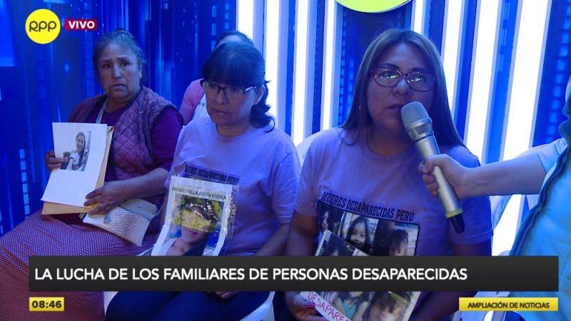 Los familiares de Esthefany Díaz Acosta, Shirley Villanueva Rivera y Yanet Ayala Huaraca expusieron sus casos en Ampliación de Noticias.