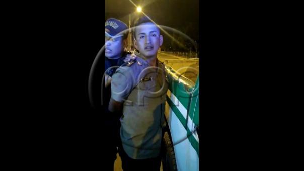 Agentes del serenazgo de Santa Anita intervinieron al suboficial de la Policía Nacional, Yordan Torres Rojas.
