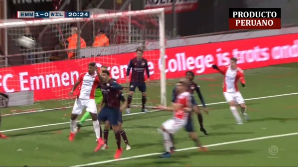 Miguel Araujo marcó su primer gol con FC Emmen de Holanda.
