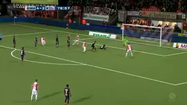 Así fue el gol de Sergio Peña contra el Willem II.