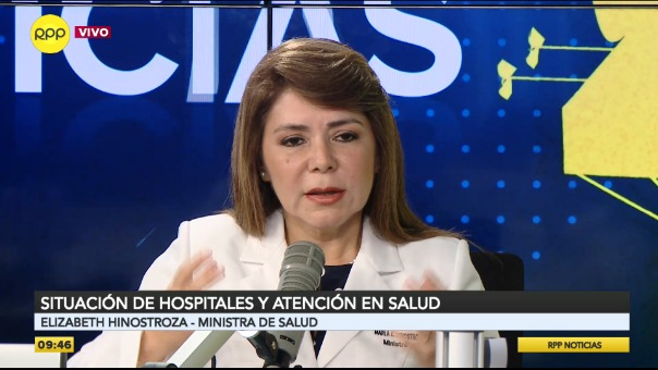 Ministra de Salud se pronuncia sobre la situación en Tacna.