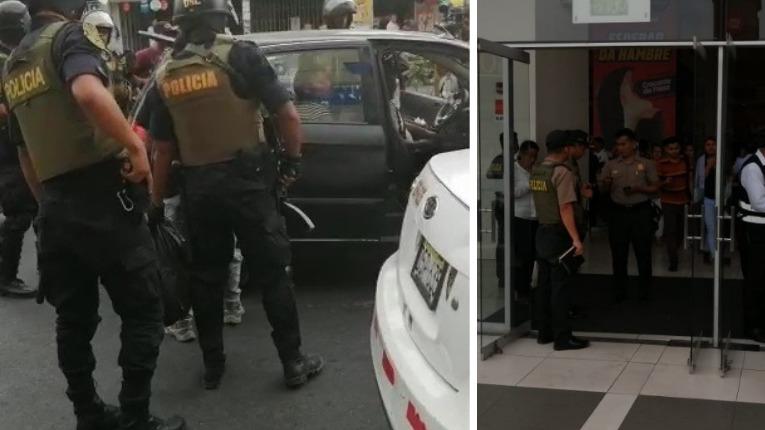 Tras la captura en Plaza Norte la Policía realizó un operativo en la avenida Tomás Valle  y alrededores.