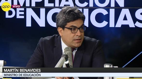 Martín Benavides, ministro de Educación.