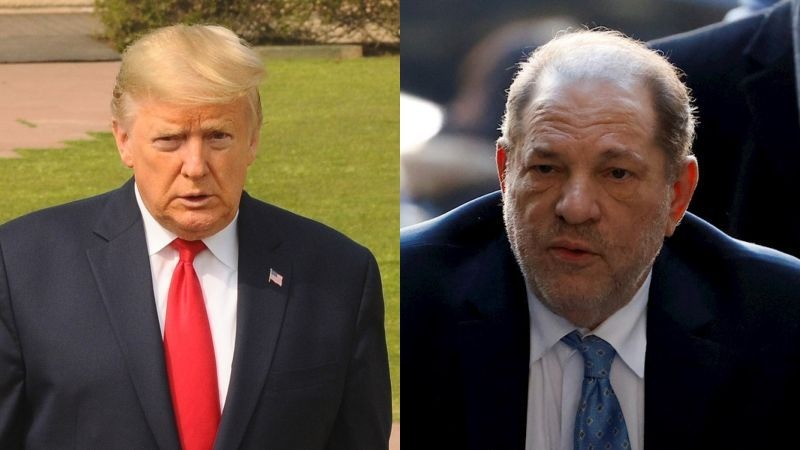 """Donald Trump señaló que los demócratas """"amaban"""" a Harvey Weinstein."""