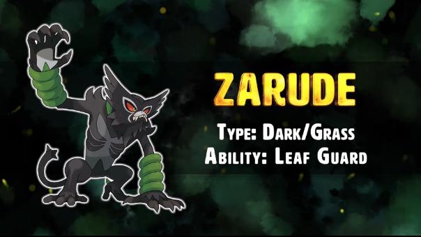 Video que revela a Zarude y sus características.