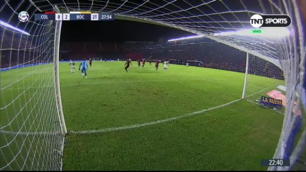 Así fue el gol de Eduardo Salvio contra Colón.