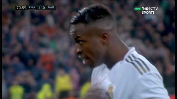 Vinicius Jr. marcó el primer gol del Real Madrid sobre el Barcelona