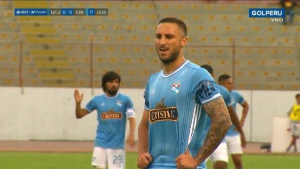 Así fue el gol de penal de Emanuel Herrera contra César Vallejo.