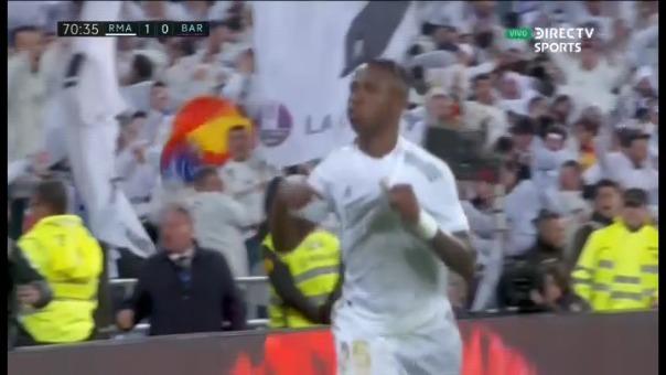 Así fue el gol y la celebración de Vinicius.