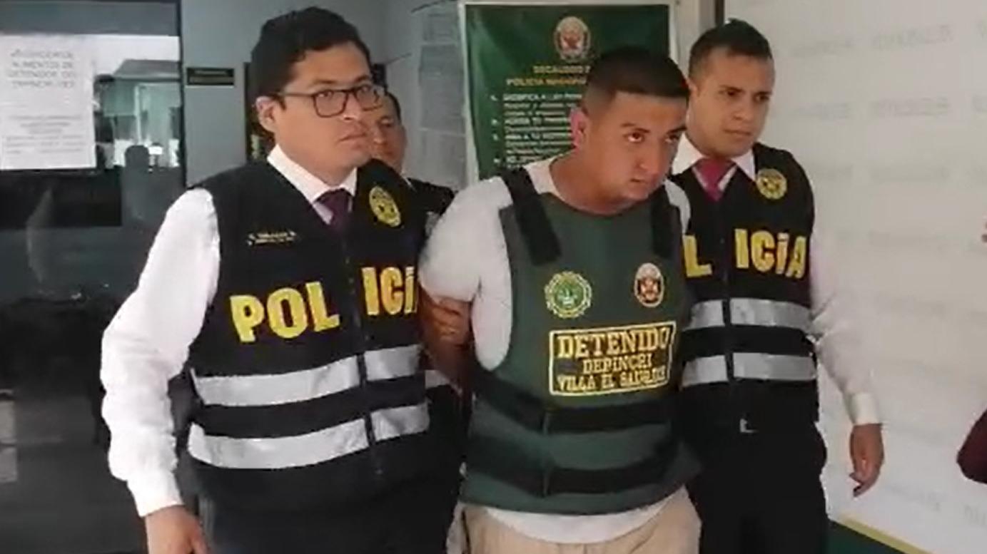 José Walter Llauca Zapata en la Deprincri de Villa El Salvador