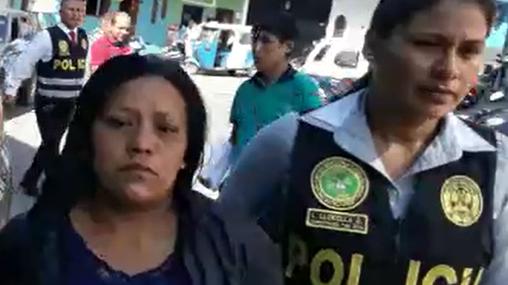 Los detenidos Elma Minori López y Julio Supo Chuqui.