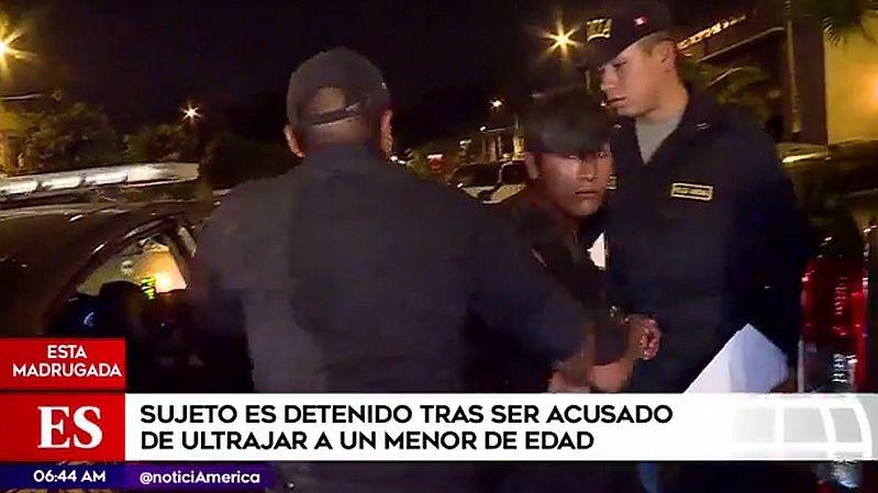 Gianmarco Ricaldi López (21) fue capturado cuando intentaba darse a la fuga.