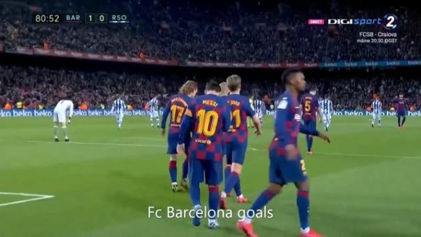 El gol de Messi.