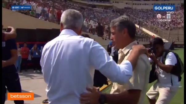 Así fue el abrazo de Gregorio Pérez con Pablo Bengoechea.