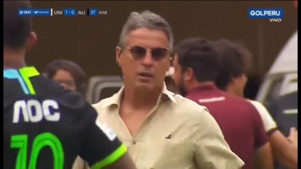 Así fue el conato de bronca en el partido entre Alianza Lima y Universitario.