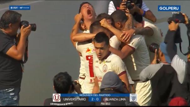 Universitario venció 2-0 a Alianza Lima  por la fecha 6 del Apertura