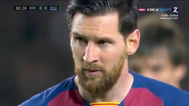 Lionel Messi ante Real Sociedad.
