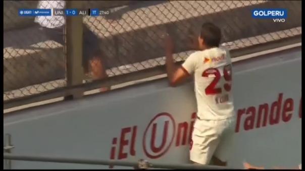 Aldo Corzo y su festejo.