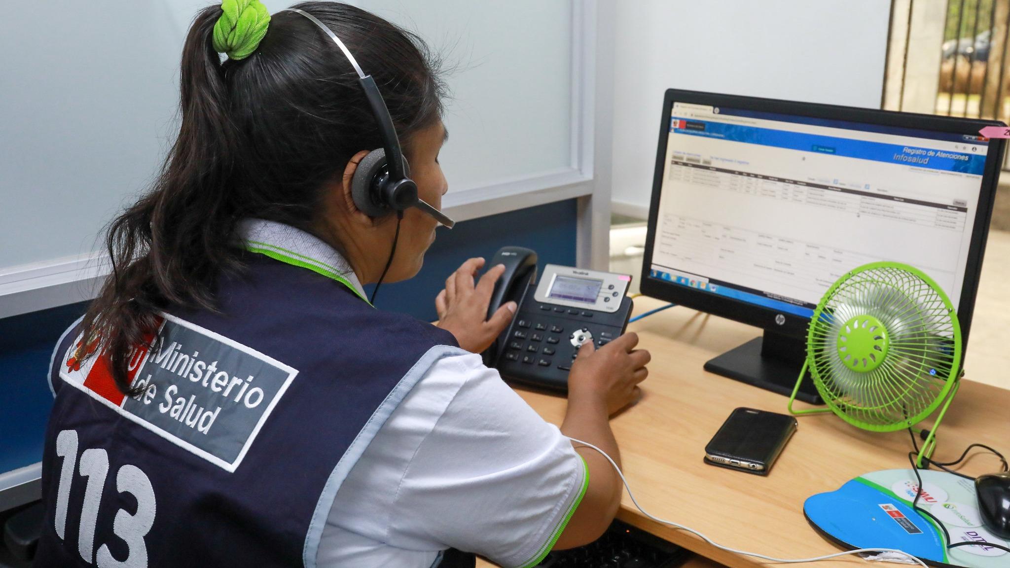Más de 164 mil llamadas atendió la Línea 113 SALUD en 2019.