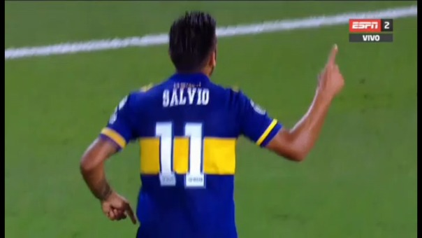 Así fue el segundo gol de Eduardo Salvio.