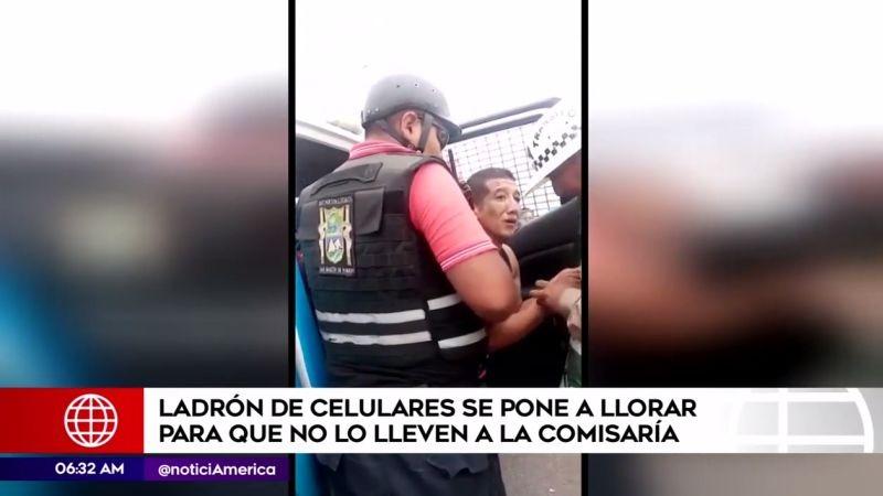 El robo ocurrió en el paradero Pro de la Panamericana Norte.