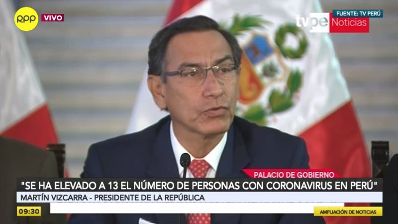 Martín Vizcarra presidió esta mañana una conferencia de prensa en Palacio.