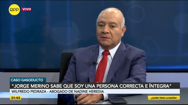 El abogado Wilfredo Pedraza se refirió a la situación legal de Nadine Heredia.