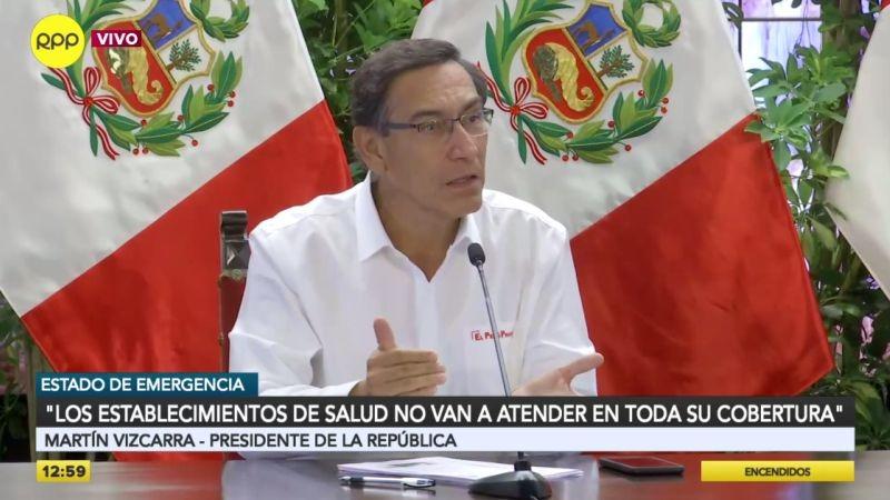 Martín Vizcarra invocó a la población a cumplir las medidas para frenar la propagación del mal.
