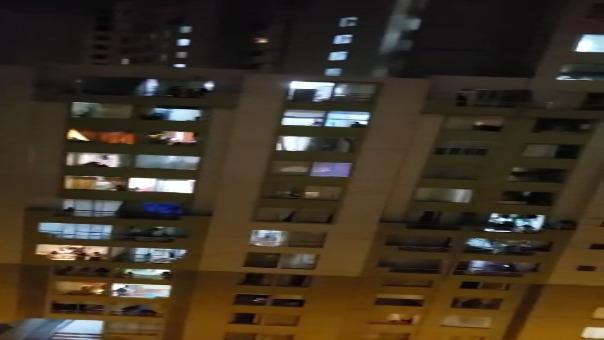 Así se sintieron los aplausos de los limeños desde sus balcones.