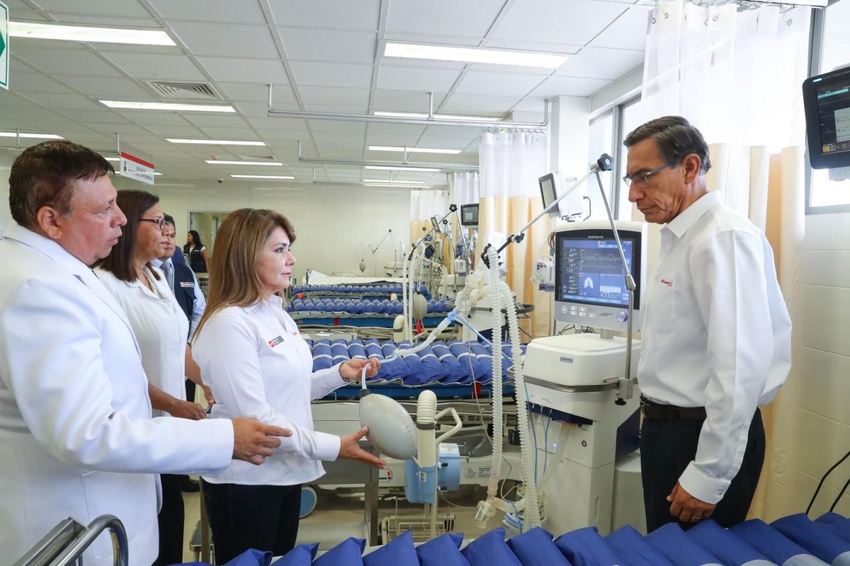 Indicó que este hospital, construido el 2019, se encontraba en proceso de adecuación para ponerlo en funcionamiento.