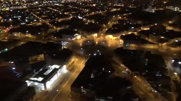 Patrullaje aéreo nocturno sobre Lima