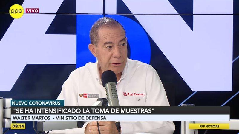 Walter Martos estuvo esta mañana en Ampliación de Noticias.