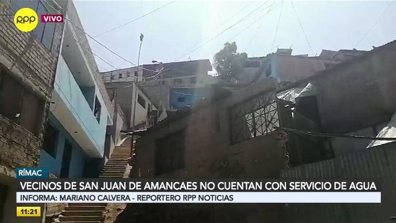 Un equipo de RPP Noticias llegó al asentamiento humano San Juan de Amancaes haciendo eco a las denuncias de los vecinos.