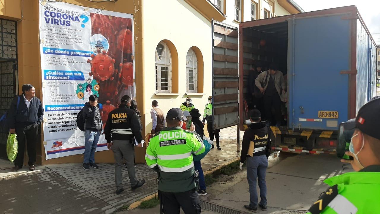Los pasajeros provenientes de la región norte del país se dirigían a Huancavelica.