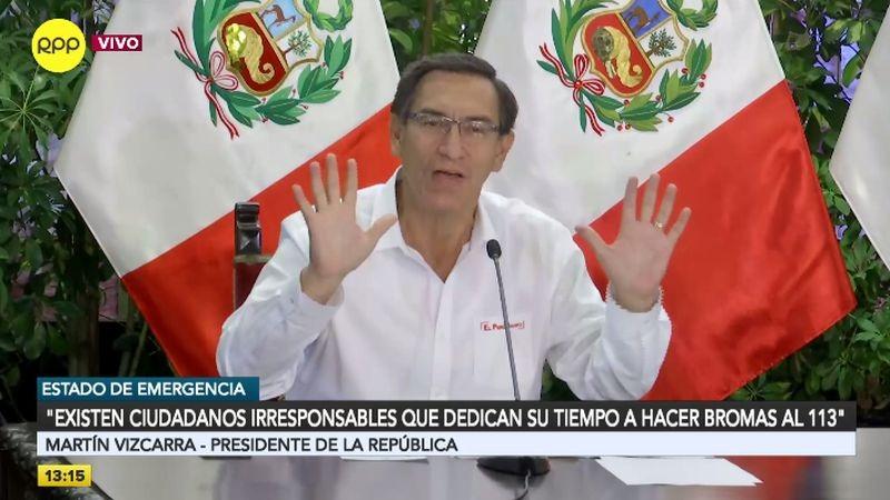 Martín Vizcarra en conferencia de prensa.